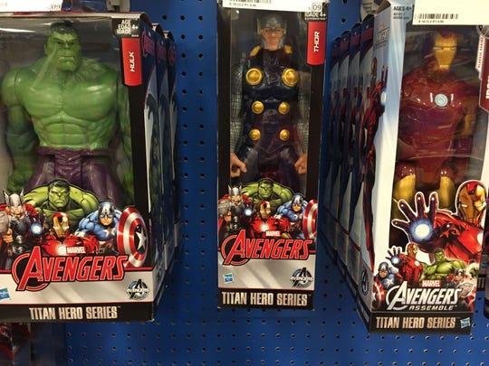 Hulk, Thor and Iron Man are all there. Guess who isn't?