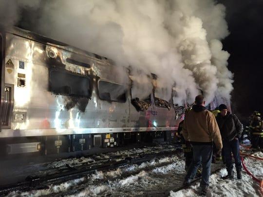 The scene of the Feb. 3, 2015, Valhalla train crash