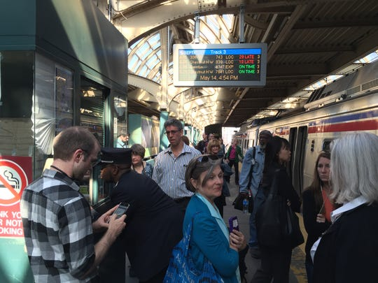Chaos in Philadelphia when no one knew whether the train was going to West Trenton because the boards were wrong.