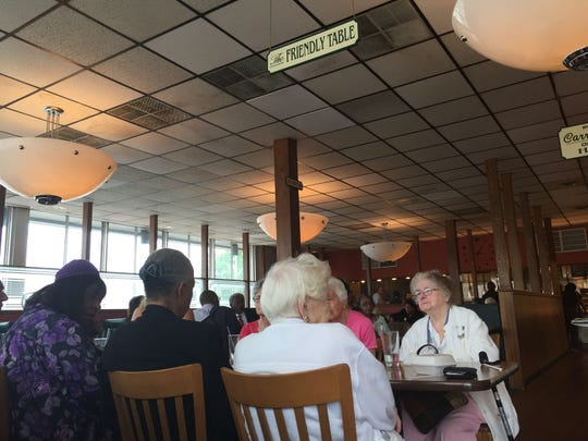 'The Friendly Table' at the Glendale MCL.