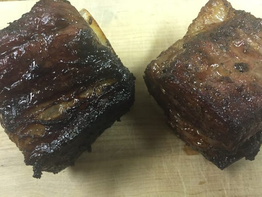 Beef short ribs in a Korean-inspired marinade that gives the meat a sweet flavor.