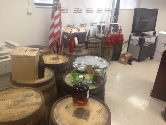 steel bourbon barrel