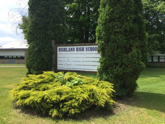 In this file photo, a sign sits outside of the Highland Central School District offices.