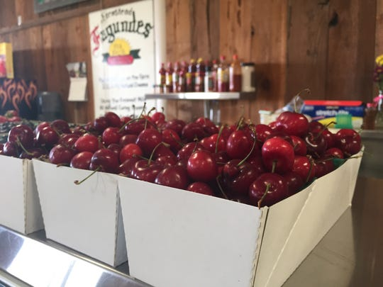 Cherries can also be found at Faria's Ranch Market, pictured here, at 8606 Ave 280, in Visalia, CA.
