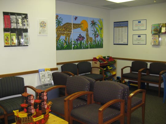 A waiting room at Blank Child Protection Center in Des Moines.