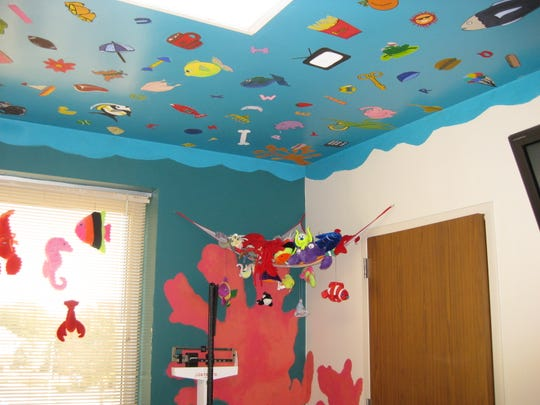 An examination room at Mercy Child Advocacy Center in Sioux City.