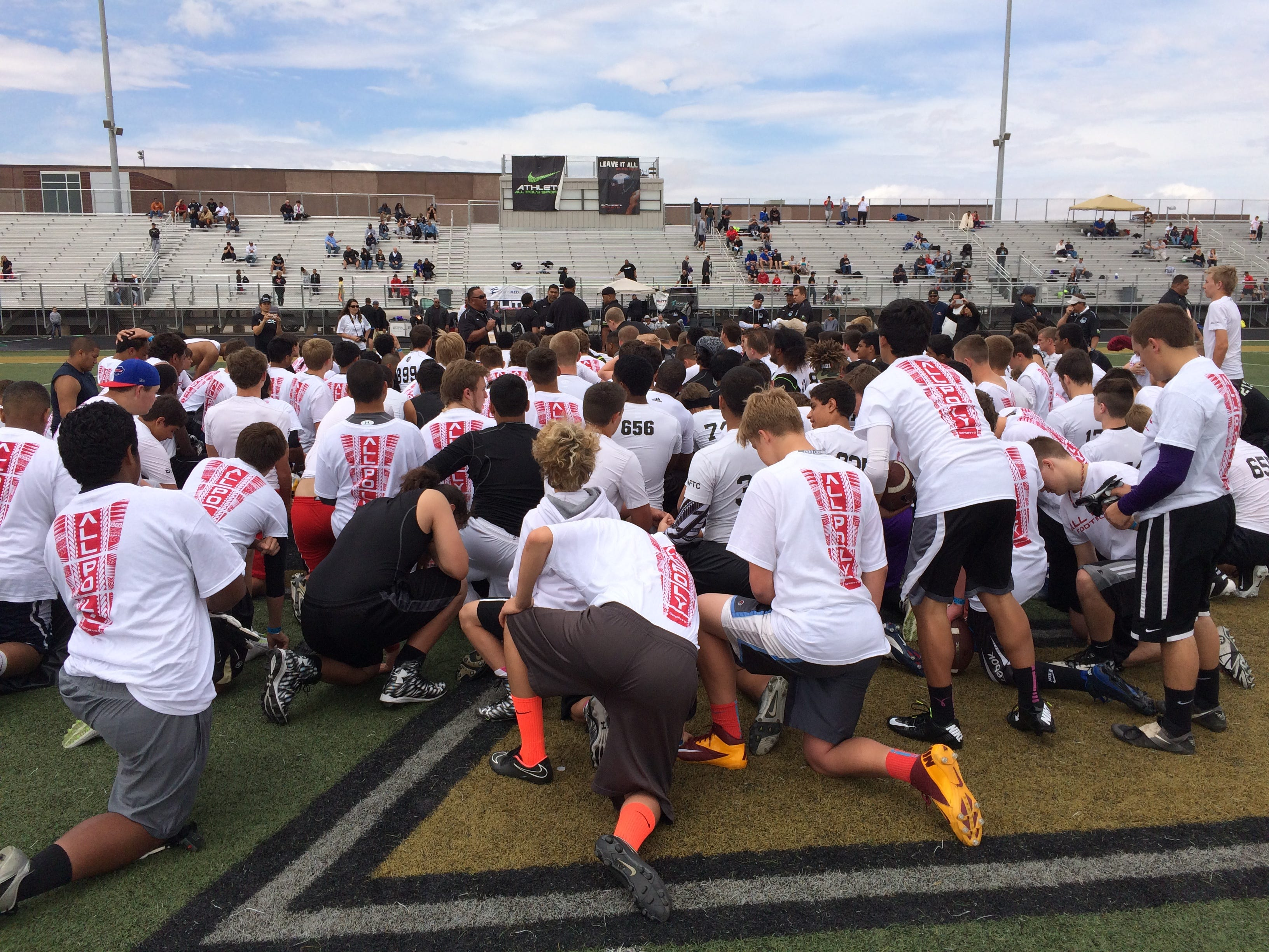 The All Poly Camp started out with just 30 athletes, and is now one of the top football camps in the entire country. More than 250 players participated Friday and Saturday at Desert hills High School.