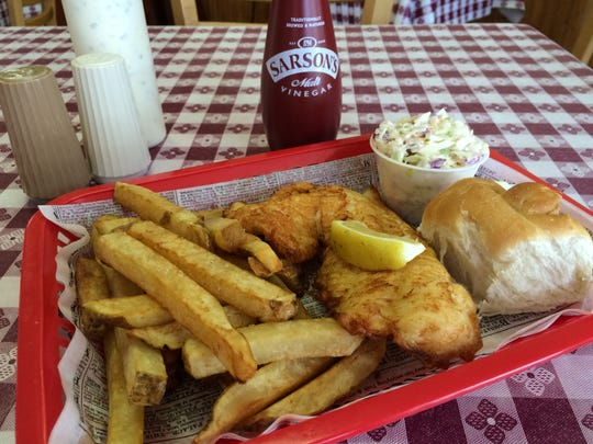 The king size fish and chips from OK UK Fish-n-Chips in North Fort Myers.