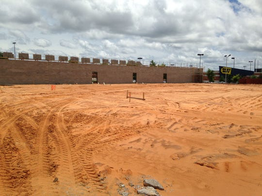 Construction continues on a 26,000-square-foot strip center at 1150 Vann Drive.