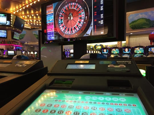 Video roulette at Tioga Downs.