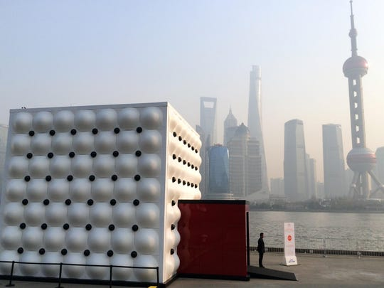 A view of the exhibit in January in Shanghai.