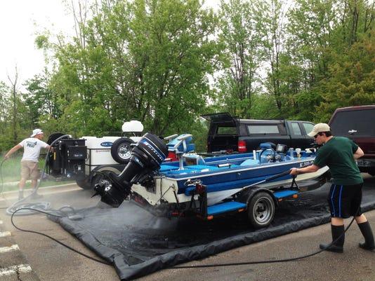 DEQ boat wash at Lake Ovid_Walters.jpg