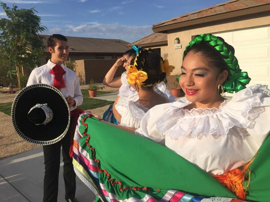 Ballet Folklorico Sol del Desierto during the festivities at the Jardines housing development in Coachella. The houses were part of the Coachella Valley Housing Coalition new 205 homes that were built by the new homeowners.