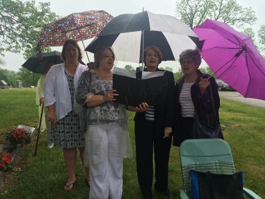 From left are Katie Graham, Connie Goins, Paula Jolley