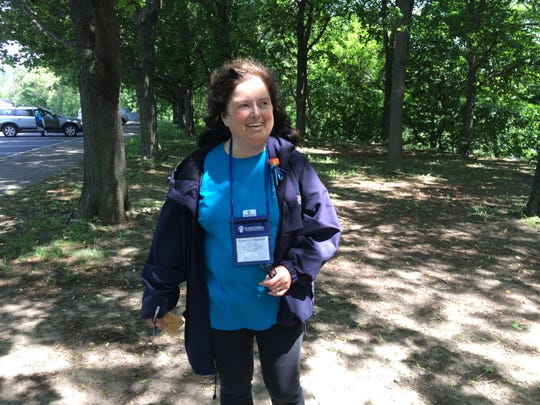 Rosemary Markoff, who served as a walk leader at the Stepping Out to Cure Scleroderma walk.