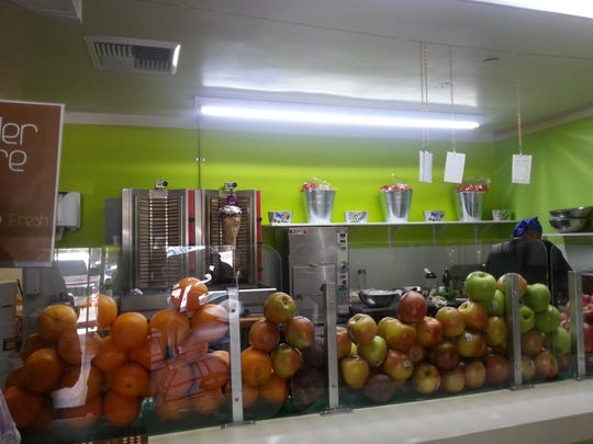 Hummus: Fresh Matters restaurant on California Avenue features an open kitchen and an order counter.