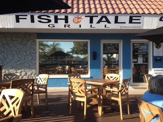 Fish Tale Grill offers patio seating and an array of local seafood.