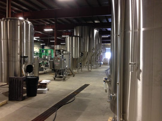 A small part of Old Nation Brewing Co.'s 22,000-square-foot production area.