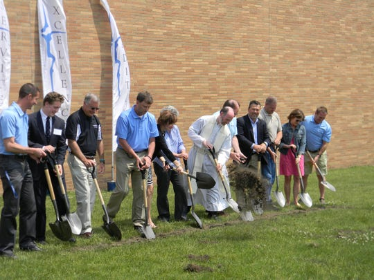 Lansing Catholic broke ground Tuesday on the Cougar Athletic Performance Center. The roughly $400,000 and 3,200-square foot facility is scheduled to be finished in mid-August.