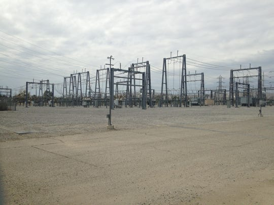 Southern California Edison's Mirage Substation in Thousand Palms is seen on June 9, 2015.
