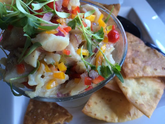 Ceviche from Fathoms Restaurant & Bar in Cape Coral.