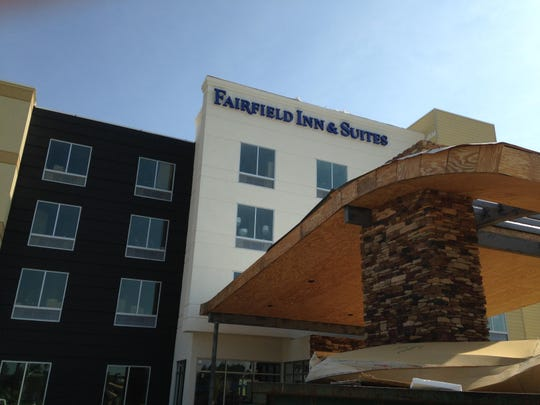 When complete, Fairfield Inn & Suites, 1335 Vann Drive, will offer 82 rooms.