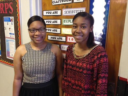 Ne'taiya Buckner and Dymon Buckley represented Lumberton High at American Legion Girls State.