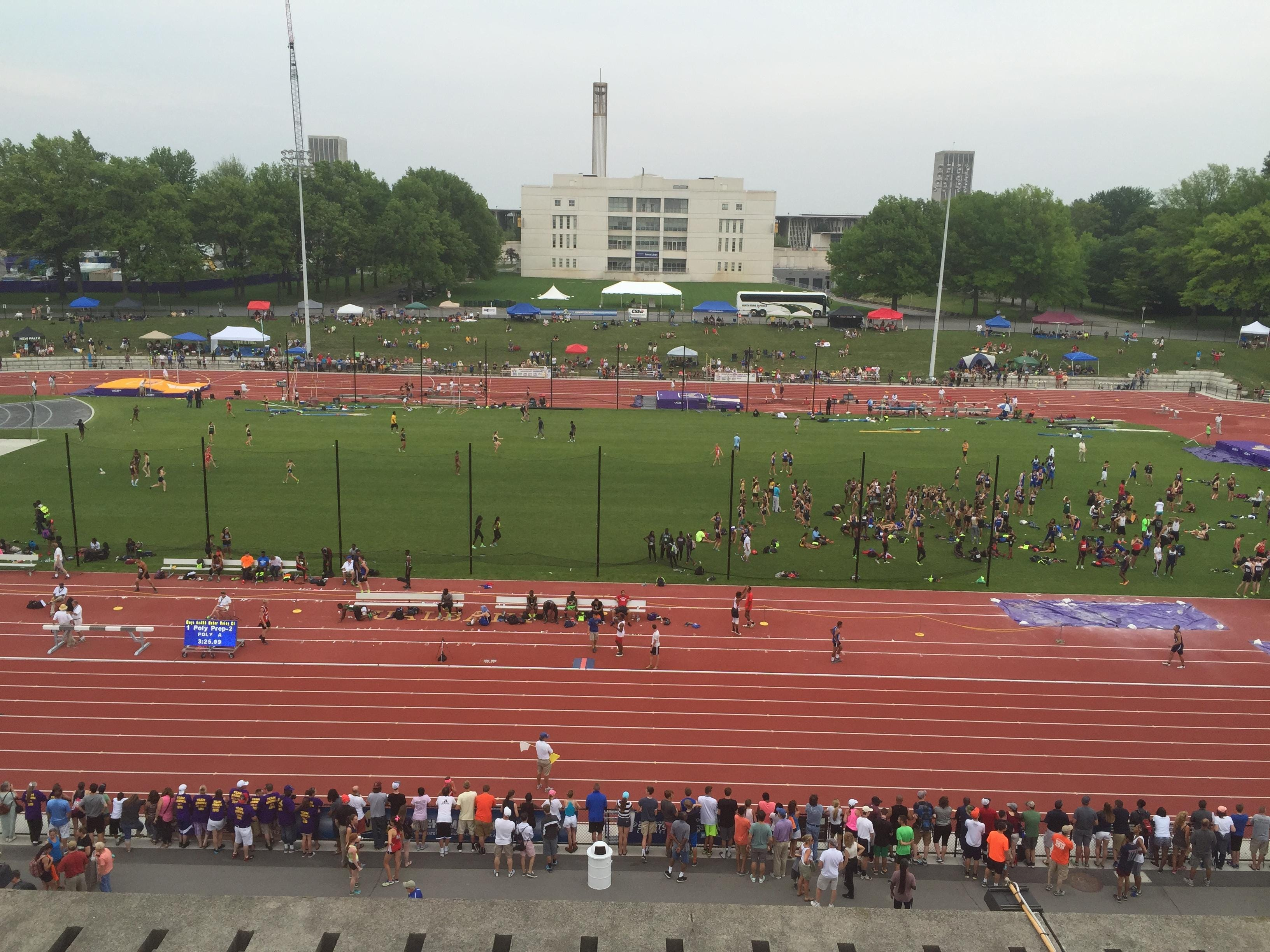 University at Albany was a beehive of activity for state track & field championships.