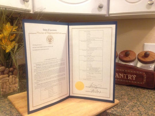 House Concurrent Resolution No. 88 recognizes official meal of North Louisiana.