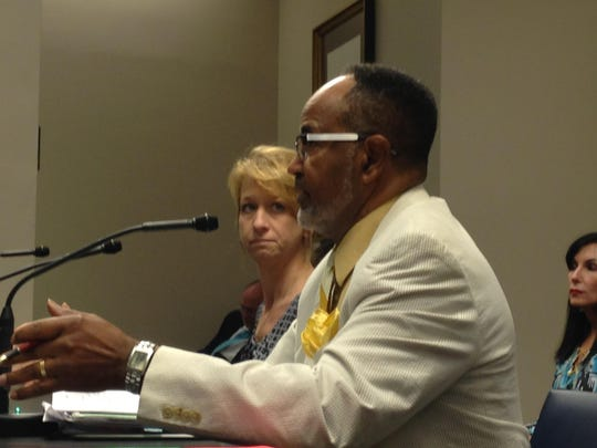 Theresa Donald and Rep. Roy Burrell address Senate Judiciary Committee C in hopes of saving Gwen's Law.