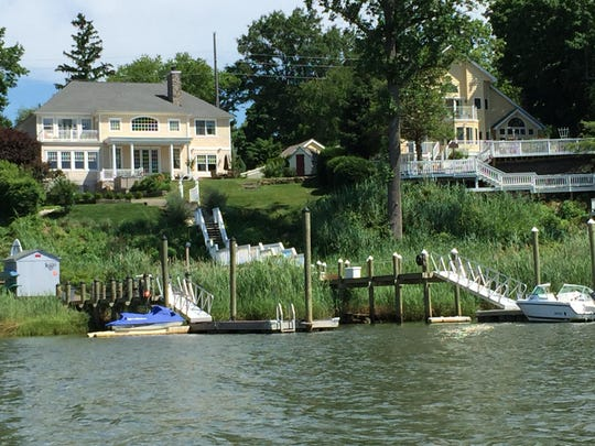 Two Fair Haven houses with great views along the Navesink.