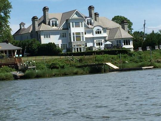 A riverfront mansion on the Navesink.