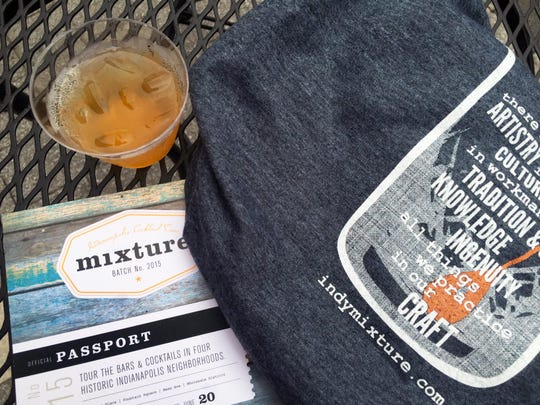 Mixture, Indy's first craft cocktail tour stared with a party on Georgia Street. Attendees took provided transportation to Indy neighborhoods to sample cocktails. Bars stamped passports along the way.