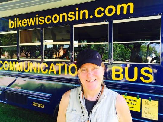 Kathy Schramm, co-owner of Bike Wisconsin.