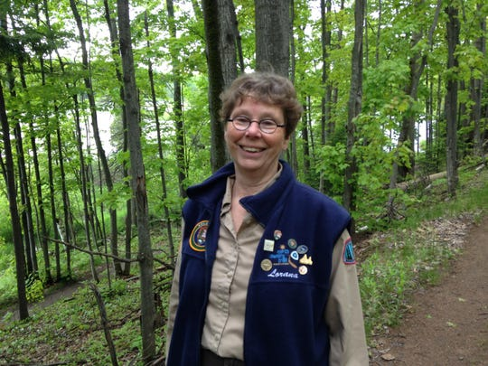 Lorana Jinkerson, president of the Central Upper Peninsula of Michigan chapter of the North Country Trail Hikers, a volunteer organization that maintains and protects 120 miles of the North Country Trail near Marquette.