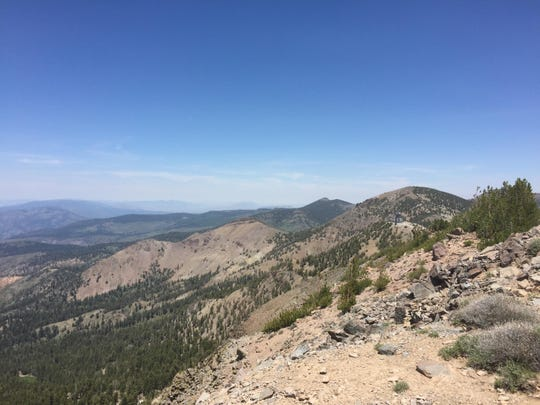 We hiked this ridge south, then east from Relay Peak back toward Mt. Rose Summit.