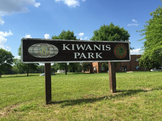 The sign welcoming visitors to Kiwanis Park in Southeast