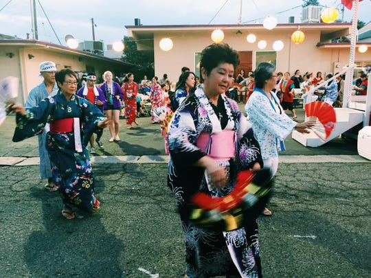 Everyone was invited to participate as dancers during Saturday's Obon Festival at the Visalia Buddhist Church.