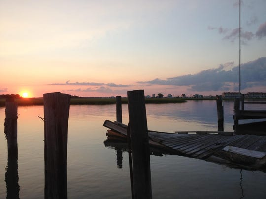 Sunset Lake, located on the bayside in Wildwood Crest, is a sight to see once 8 p.m. comes along.