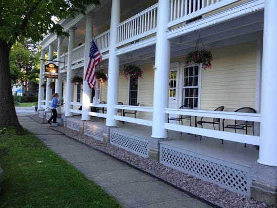 Visitors from Vermont — a 20-minute ferry ride away — can dine on upscale food on the colonnaded porch of the Essex Inn in the hamlet of Essex, N.Y. The 205-year-old building is nearly as old as the town itself and recently underwent a thorough renovation.