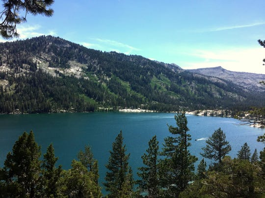 Lower Echo Lake as seen from the trail to Lake Aloha on July 1, 2015.