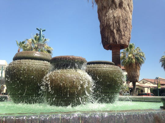 The fountain at the Village Green Heritage Center downtown was recently turned back on.