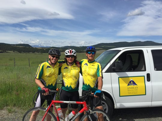 Mike Heisler, Cole Forrest and Mike Roemer recently took part in Andean Health & Development bike ride, which this year expanded to honor small-town health-care systems. They rode from Seattle to Sioux Falls.