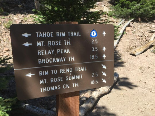 """As much as the 5-year-old wants to join the adventure, it's """"time out"""" time for Dad on the Tahoe Rim Trail."""