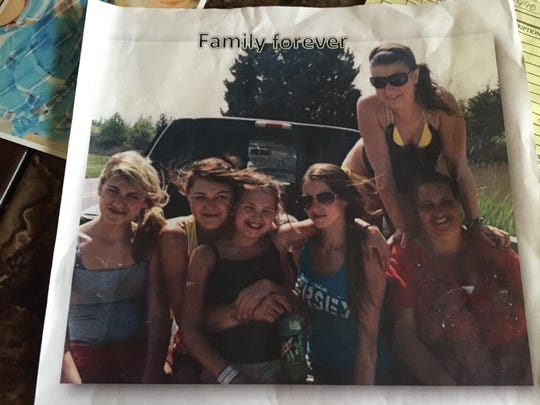 Friends and family say Alissa Allen, top right in this