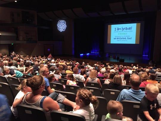 Crowds fill O'Gorman High School's Performing Arts