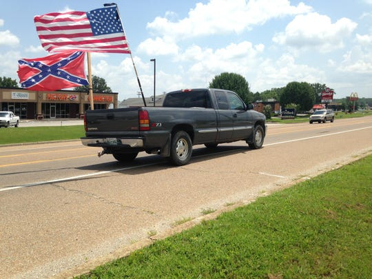 Confederate Warriors organized a protest on Sunday, July 12, in Benton County to voice opposition to renaming Nathan Bedford Forrest State Park.