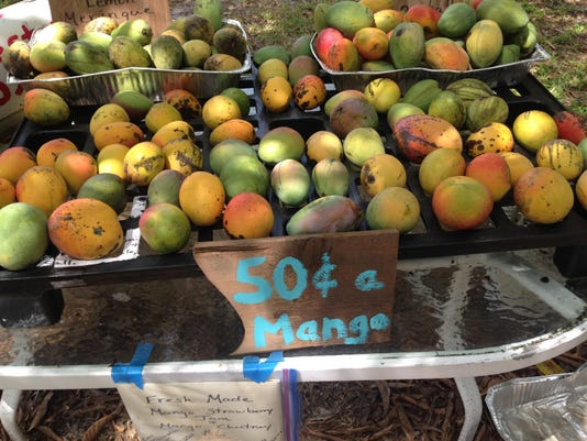 table of mangoes