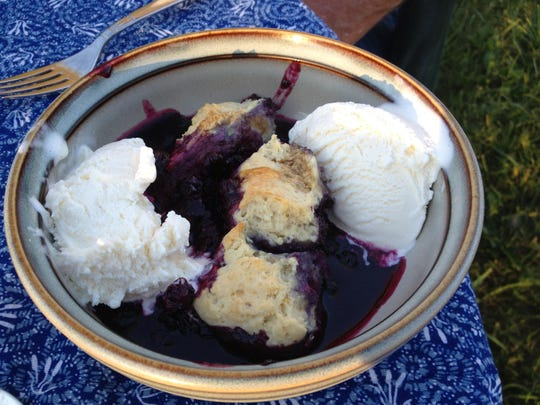 Blueberry grunt, an old-fashioned New England dessert, lets the sweet flavor of blueberries shine through. It's a great dish to practice your biscuit-making technique on as well.