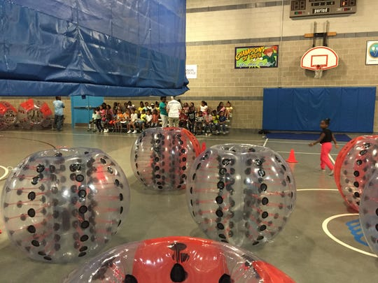 Knockerball works with facilities in the Jersey area to set up games.